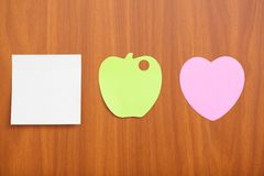 Reminder notes in different shapes Stock Image