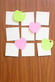 Reminder notes in different shapes Royalty Free Stock Image