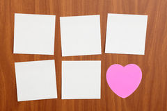 Reminder notes in different shapes Royalty Free Stock Images