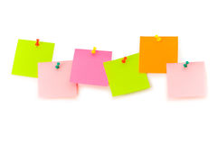Reminder notes isolated. On the white board Royalty Free Stock Photography