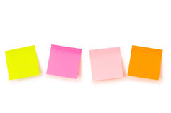Reminder notes isolated. On the white background Stock Photos