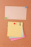 Reminder notes  with pin Stock Images