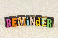 Reminder notice remember agenda forget message memory alert