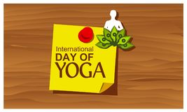 Reminder paper word International Yoga Day vector. Vector Illustration. EPS file available. see more images related vector illustration
