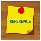 Reminder paper word reference vector. Vector Illustration. EPS file available. see more images related stock illustration
