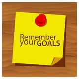 Reminder paper word remember your goals vector. Vector Illustration. EPS file available. see more images related vector illustration