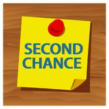 Reminder paper word second chance vector. Vector Illustration. EPS file available. see more images related vector illustration