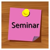 Reminder paper word seminar vector. Vector Illustration. EPS file available. see more images related royalty free illustration