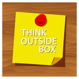 Reminder paper word think outside box vector. Vector Illustration. EPS file available. see more images related royalty free illustration