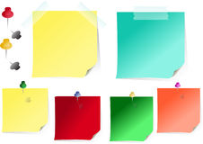Reminder papers. Vector illustration memo papers isolated Royalty Free Illustration
