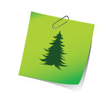 Reminder with pine tree green vector Royalty Free Stock Photo