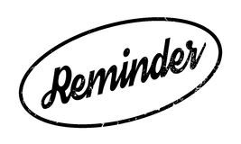 Reminder rubber stamp. Grunge design with dust scratches. Effects can be easily removed for a clean, crisp look. Color is easily changed Stock Images
