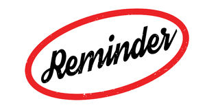 Reminder rubber stamp. Grunge design with dust scratches. Effects can be easily removed for a clean, crisp look. Color is easily changed Stock Photos