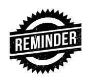 Reminder rubber stamp. Grunge design with dust scratches. Effects can be easily removed for a clean, crisp look. Color is easily changed Stock Photography