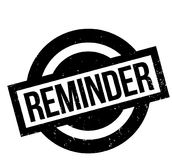 Reminder rubber stamp. Grunge design with dust scratches. Effects can be easily removed for a clean, crisp look. Color is easily changed Royalty Free Stock Image