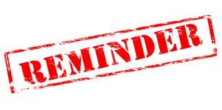 Reminder. Rubber stamp with word reminder inside, vector illustration Stock Images