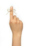 Reminder string around finger Royalty Free Stock Photography