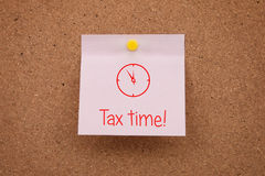 A reminder of the time of payment of taxes. Time taxes. Royalty Free Stock Photography