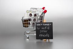 Free Reminder To Refill The Meds Royalty Free Stock Photo - 53355005