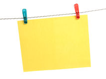 Reminder With Clothes Peg Royalty Free Stock Image