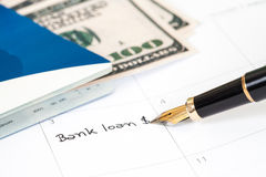 "Reminder  ""bank loan"" Royalty Free Stock Photo"