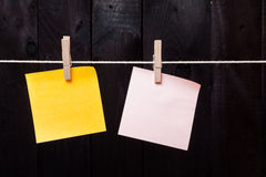 Reminders note hanging Royalty Free Stock Photo