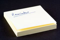 Reminders Pad. Post-It Pad for Reminders Royalty Free Stock Images