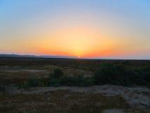 Reminds krzyżowanie Wschód słońca fotografia stock