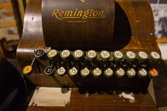 Remington Antique Adding Machine Immagini Stock Libere da Diritti