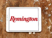 Remington Arms Company logo. Logo of Remington Arms Company on samsung tablet. Remington Arms Company, LLC is an American manufacturer of firearms and ammunition Royalty Free Stock Photo