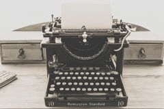 Remington Standard Typewriter in Greyscale Photography Royalty Free Stock Photo