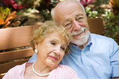 Reminiscing Senior Couple Stock Photography