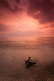 Remis Beach. A remote Remis beach located in Jeram, Selangor Royalty Free Stock Photo