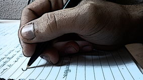 Remis ręki writing Fotografia Royalty Free