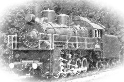 Remis stara parowa lokomotywa Obraz Royalty Free