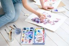 Remis umiejętności farby czasu wolnego akwareli pomysłowo obrazek zdjęcia royalty free