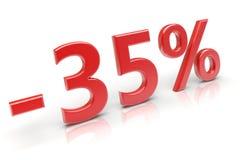 remise de 35% illustration de vecteur