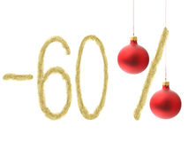 Remise de l'hiver 60% Photo stock