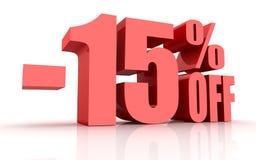 remise de 15 pour cent illustration de vecteur