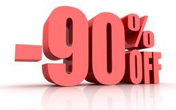 remise de 90 pour cent illustration de vecteur