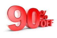remise de 90 pour cent illustration stock