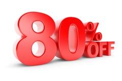 remise de 80 pour cent illustration libre de droits