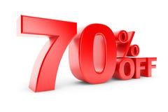 remise de 70 pour cent Image stock