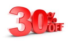 remise de 30 pour cent Image libre de droits