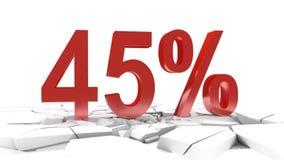 remise de 45 pour cent illustration libre de droits