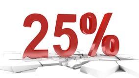 remise de 25 pour cent illustration de vecteur