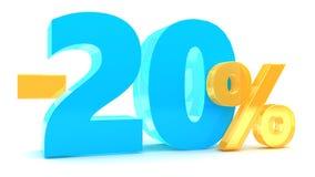 remise de 20 pour cent Image stock