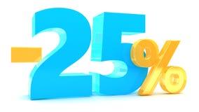 remise de 25 pour cent Images libres de droits