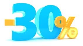 remise de 30 pour cent illustration libre de droits