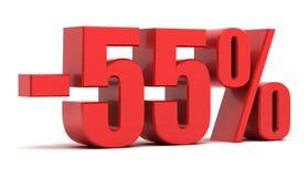 remise de 55 pour cent Photos libres de droits